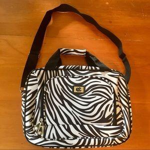 Zebra print travel bag